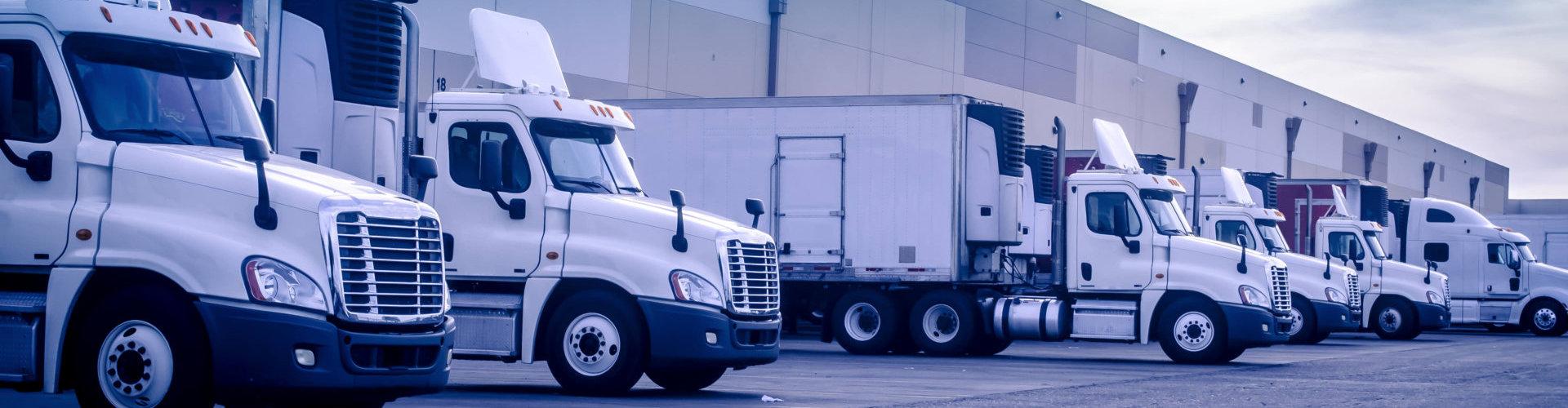 trucks on park